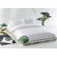 China Nordic Hotel Bedroom Set 100% Cotton And Personalized Satin White 400T With Embroider wholesale