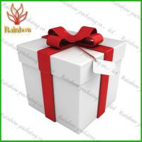 China Luxury White  Paper Packaging Boxes For Shopping With Pantone Color Printing wholesale