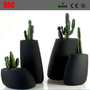 China Large Size Cheap Flower Pots/Fiberglass Flower Pot/Decorative Flower Vase wholesale
