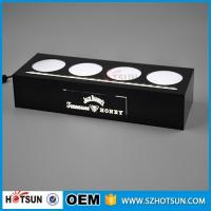 Quality Acrylic illuminated led bottle base for 4 bottles, lighting liquor bottle for sale