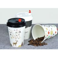 Insulated Recycled Paper Coffee Cups With Food Grade Polyethylene Lamination