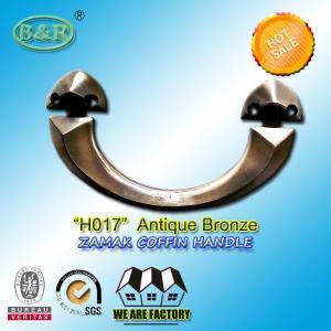 China Antique copper bronze zamak metal coffin handle H017 22.5*11.5  cm zinc casket hardware wholesale