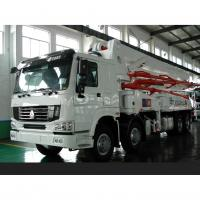 Quality 8×4 HOWO Cement Pump Truck / Concrete Boom Pump Truck For Construction for sale