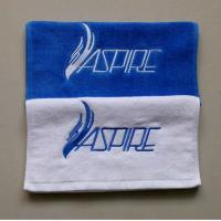 China Low MOQ fitness towel/ hand towel/ face towel with customized embroidery on sale