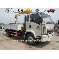Buy cheap Howo 4x2 Telescopic Boom Truck Mounted Crane Hydraulic Truck 2 Ton 3 Ton 5 Ton from wholesalers