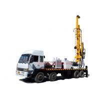 China 8X4 heavy duty truck mounted top head water well drilling rig by mud drilling and air compressor drilling on sale