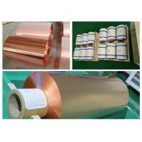 China 10um Lithium Battery Copper Foil Roll , RA Double Shiny Thin Copper Foil wholesale
