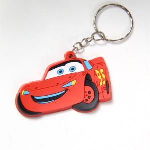 China 3D soft rubber car key chain wholesale