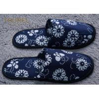 China Anti Bacterial And Non Slip Disposable Hotel Slippers Linen Peep Toe wholesale