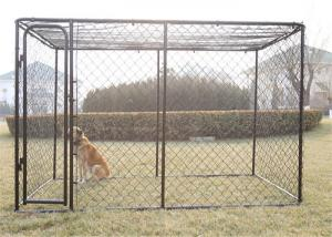China 2mm Galvanized Wire Chain Link Dog Kennel 13 Feet X 7.5 Feet X 6 Feet wholesale