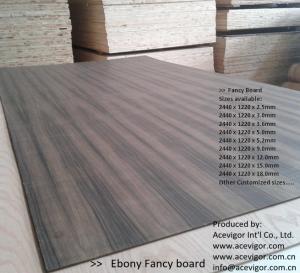 China Ebony Fancy Plywood 1220 x 2440mm wholesale
