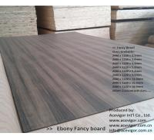 Quality Ebony Fancy Plywood 1220 x 2440mm for sale