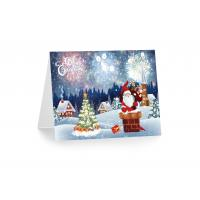 Quality 3D 12x17cm Greeting Card Lenticular Printing Services With Customized X-mas for sale