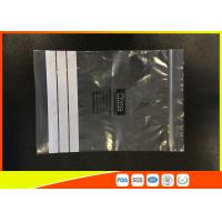 China Customized Polyethylene Zip Bags / PE Zip Bags With Great Clarity wholesale