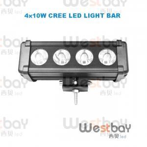 China 40W 8 Inches CREE LED Work Light Bar LED Flood Beam Spotlight Beam Bar led light bar wholesale