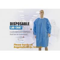 China Disposable Isolation Non- Woven Gown,Disposable Hospital Non woven Medical White Lab Coat,Disposable Industrial Overall on sale