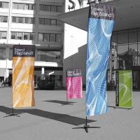 Quality Durable custom feather flags double sided Full Color Imprints for sale