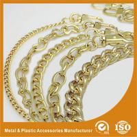 China Shiny Gold Solid Brass Handbag Metal Chain For Purse Accessories wholesale