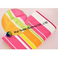 China SGS Standard Microfiber Striped Beach Towels , Extra Large Beach Towels wholesale