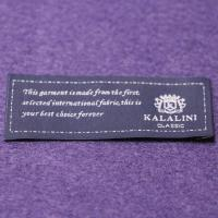 China Polyester Yarns Over lock  Custom Woven Clothing Labels Pantone Color wholesale