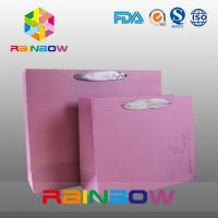 China Square Bottom Customized Paper Bags With Drawstring For Gift / Garment / Shopping wholesale