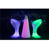 China PE Plastic Full Color Led Glow Furniture With Metal Treadle / LED Bar Stool wholesale