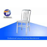 China Anodizing Brushed Indoor Cafe Metal Navy Chairs Heavy Duty For Dining wholesale