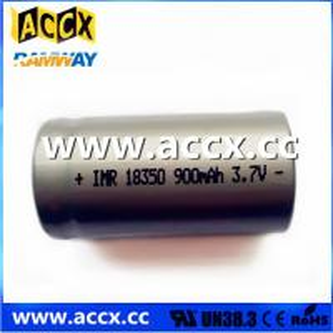 China ICR18350 900mAh 3.7V wholesale