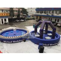 China Purple Or Custom Made Inflatable Meltdown Rotating Game , Inflatable Last Man Standing Game wholesale