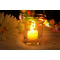 China 7Oz Mouth Blown Clear Decorating Glass Candle Holders , Astm wholesale
