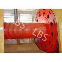China Carbon Steel Integral Cable Winch Drum for Marine Windlass Boat and Lifting Machinery wholesale