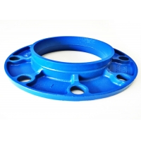 China C606 Grooved Cast Iron Flange Adapter , DN20mm Fire Sprinkler Pipe Welding wholesale