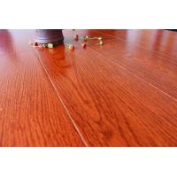 China Sound Absorption Wooden Floor Tiles Bamboo Fiber Wood Grain Reddish Brown wholesale