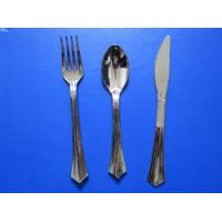 Colorful handle stainless steel flatware with wire stand