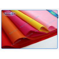 China Blue / Pink / Yellow PP Non Woven Tablecloth , Spunbond Nonwoven Fabric Flower Packing wholesale