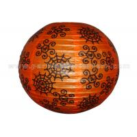 China Spider Web Patterned Printed Round Paper Lanterns For Party , Halloween Decoration Entertaining wholesale