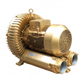 China Pneumatic Conveying Regenerative Air Blower , Goorui Vacuum Pump Golden Color wholesale