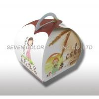 China Compare Custom Cardboard cake Packaging Boxes With Handle, Coated Paper Cake Boxes wholesale