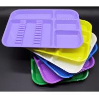 China High Quality Good Price Autoclavable plastic dental partition tray with different colors on sale