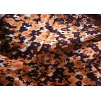 Quality Beautiful Printed Wool Fabric Brown Color For Winter Garment / Boiled Wool Coating Fabric for sale