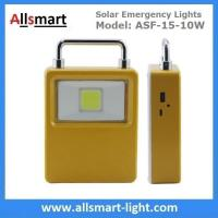 Buy cheap 10W Portable Solar Emergency Lights Rechargeable LED Flood Lights Solar Indoor from wholesalers