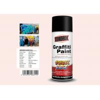 China Plastic White Color Graffiti Spray Paint Fastest Dry TimeFor Indoor / Outdoor Projects wholesale