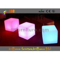 Quality 16 Colors Changeable LED Cube Chair / Modern Round Bar Stool With Huge Capacity for sale