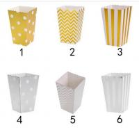 China 12pcs/lot Gold/Silver Metallic Mini Party Paper Popcorn Boxes Candy/Snack Favor Bags Wedding Birthday Movie Party Suppli wholesale