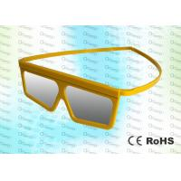 China Yellow Framed Linear Polarized Imax Polarized Glasses 3D MOVIES / 4D CINEMA / 3D THEATRE wholesale