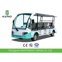 China 4 Wheel Electric Sightseeing Car , 11 Seats Electric Passenger Vehicle With Sun Curtain wholesale