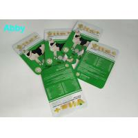 Quality Logo Customized Pet Food Pouch , Gree Color Food Packaging Bags For Animals for sale