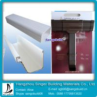 China Hangzhou Higher Qaulity White Square Shape PVC Rain Gutter For Drainage System wholesale