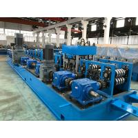 China 2.0 - 5.0mm Steel Purlin Roll Forming Machine with Gear Box Wire - electrode structure wholesale