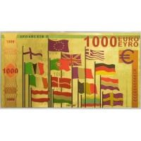 Quality 1000 Euro Bank Note Colored European Bill for sale